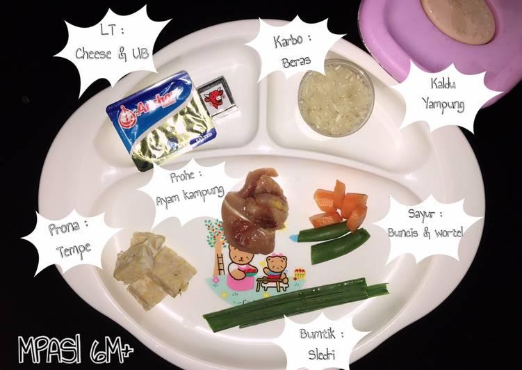 Cara mudah membuat MPASI 6M+ 03    Nasi kaldu Ayam kampung