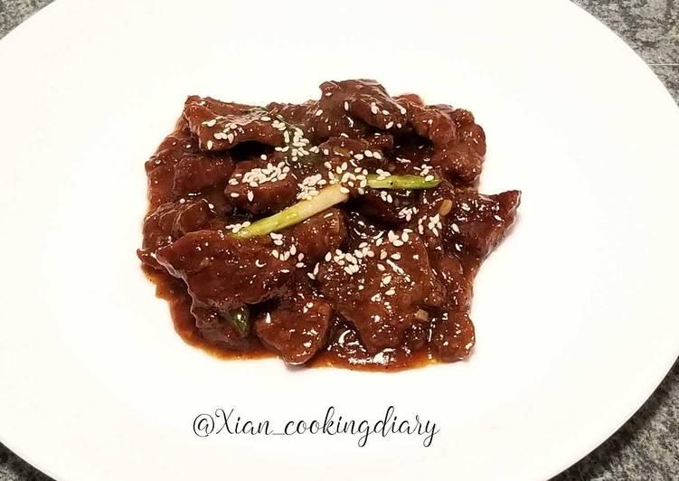 Mongolian Beef (蒙古牛肉)