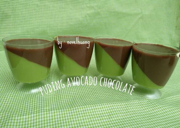 Puding avocado chocolate