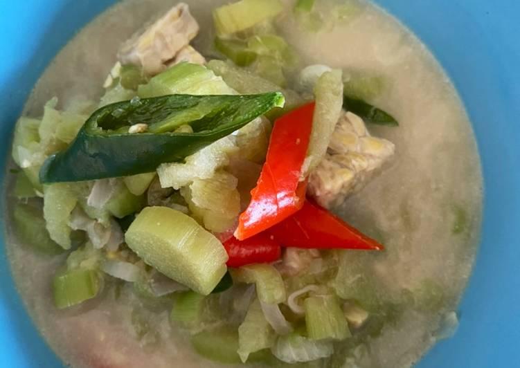 Lodeh batang talas (versi diet)