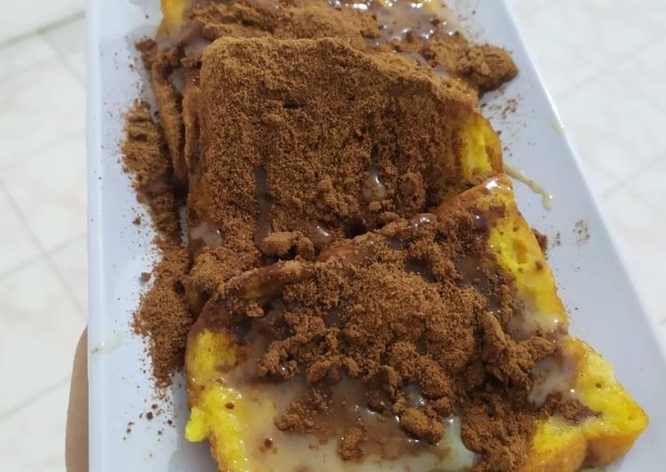 Resep Roti Toast ala Prancis-Roti Egg Butter Susu Milo *MUDAH BANGET* Paling Top