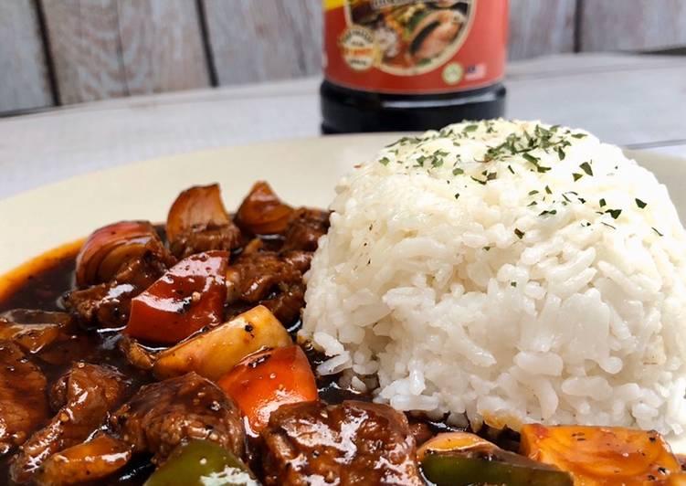 nasi putih daging black pepper Resepi Nasi Goreng Lada Hitam Enak dan Mudah