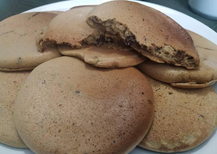Pancake al caffè con gocce di cioccolato