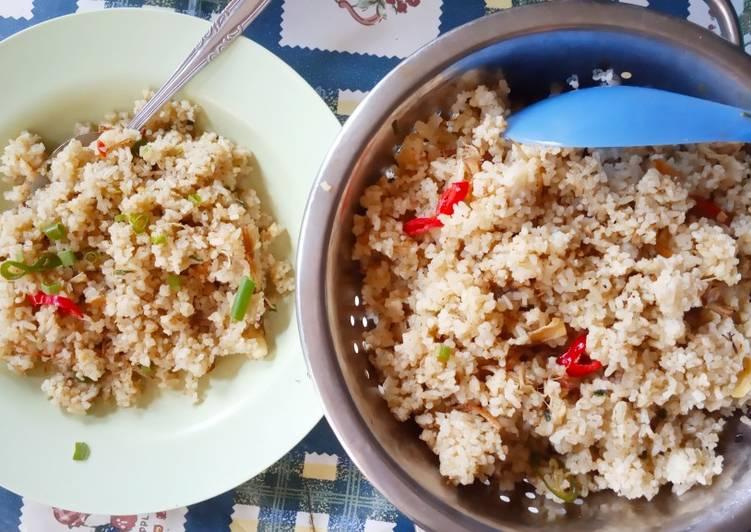 Nasi goreng cabe hijau royco