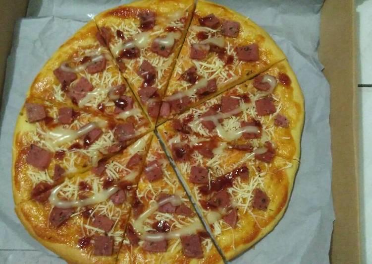 Pizza Empuk tanpa bantingtanpa standmixer, tanpa timbangan