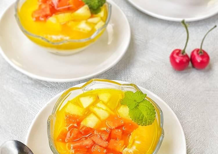 7 Resep: Dingsu ah (puding susu buah) yang Enak Banget!