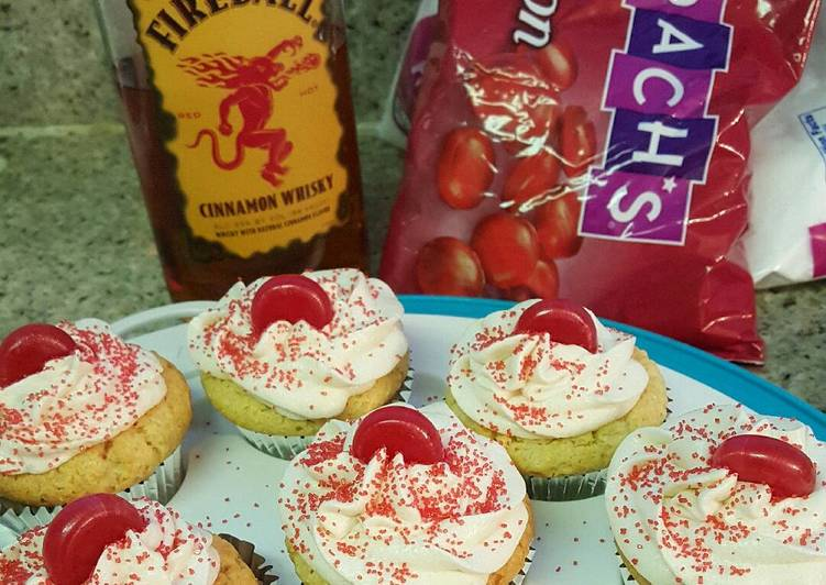 Recipe of Quick Fireball whiskey cupcakes