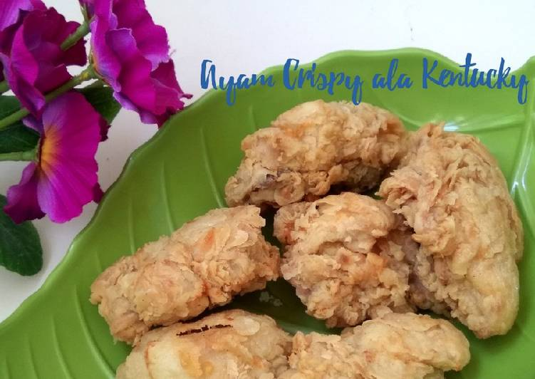Resep Mudah Ayam Crispy ala Kentucky Gampang Banget