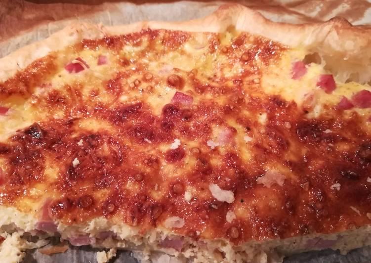 Quiche jambon/fromage râpé