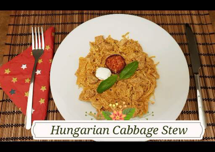 """Step-by-Step Guide to Prepare Super Quick Homemade Hungarian Cabbage Stew in """"Székely""""- in Hungarian Székelykáposzta"""