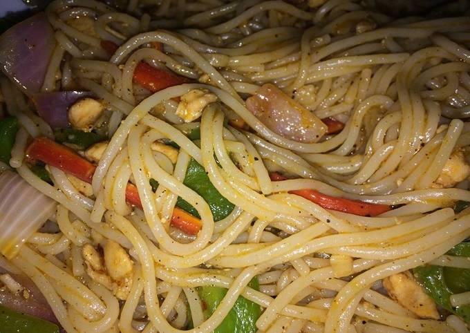 Chicken spagheti