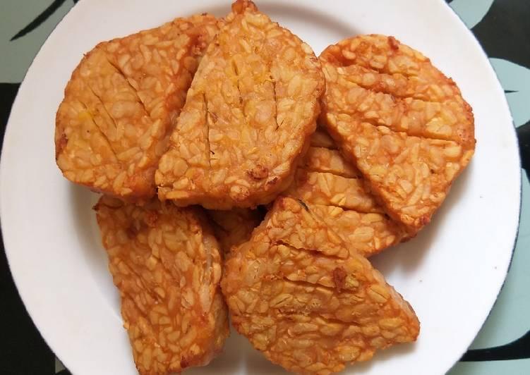 Tempe goreng bawang putih
