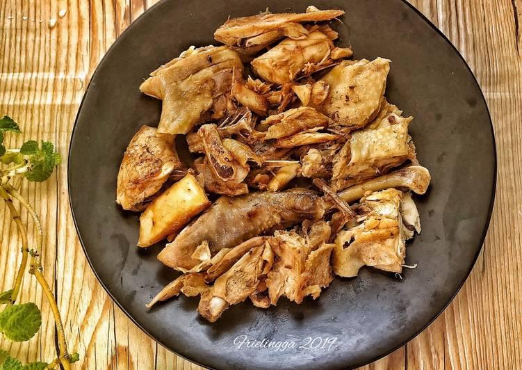 Tumisan ayam dg minyak wijen, memanfaatkan ayam rebus sisa