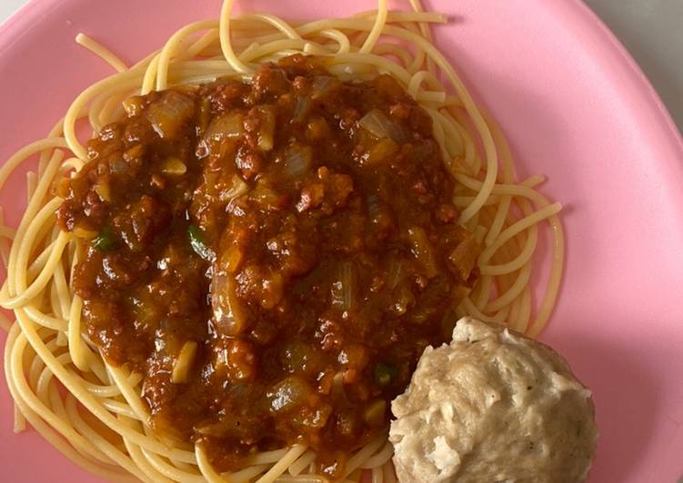 Spaghetti Bolognese Pedas Mantap