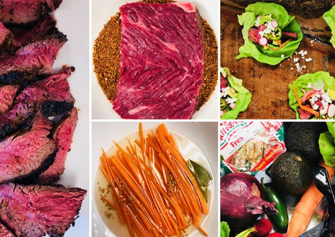 Blackened Wagyu Beef Top Sirloin Lettuce Wraps