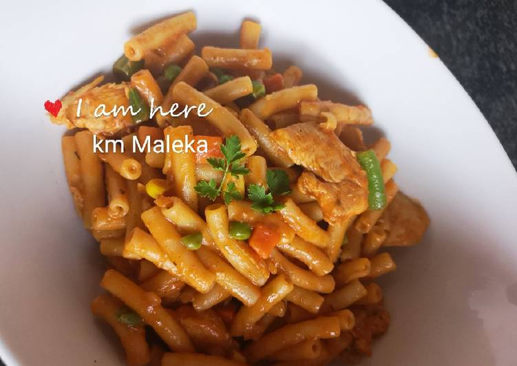 Recipe of Ultimate Tomato macaroni chicken breast