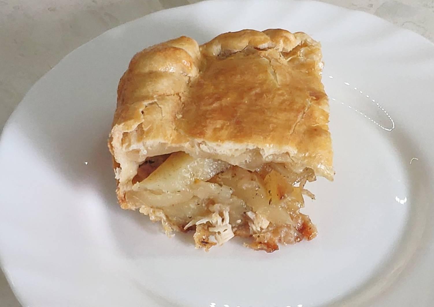 пирог с курицей и картофелем фото неправильном