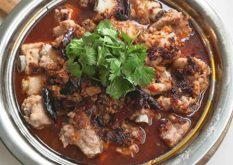 Steam pork ribs szechuan style