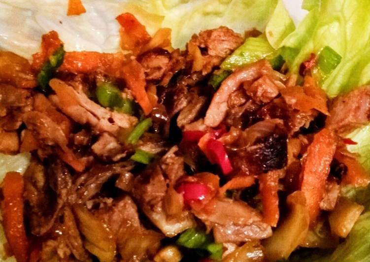 Leftover Duck San Choy Bau