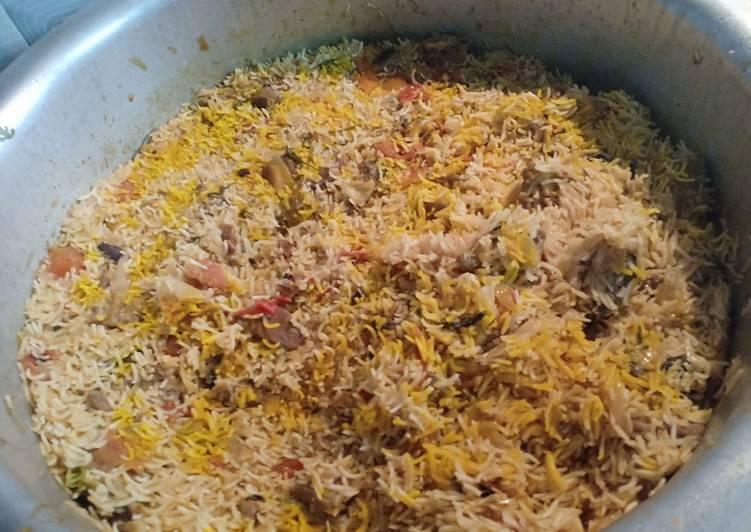 Mutton (Lamb) Biryani - Chennai style