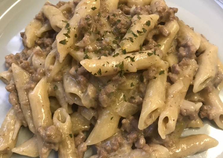 Steps to Prepare Favorite One-Pot Creamy Beef Penne