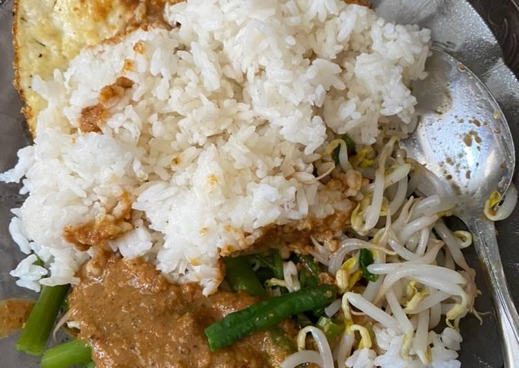 Nasi pecel jawa simple murah