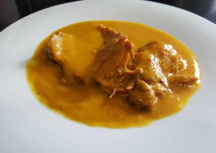 Redondo De Cerdo En Salsa Amarilla Receta De La Cocina De Jonny Cookpad
