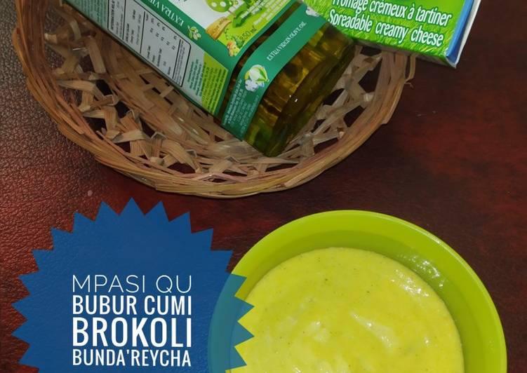 Cara mudah membuat 🥣 Bubur Cumi Brokoli (MPASI)