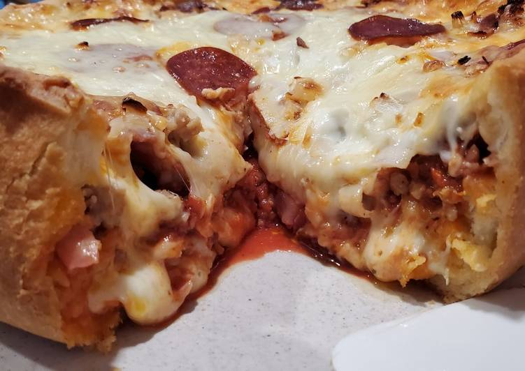 Double Crust Deep Dish Pizza