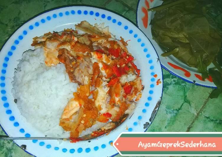 008. Resep Ayam Geprek Sederhana