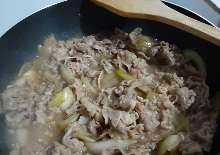 Daging Yoshinoya Original (Halal Recipe)