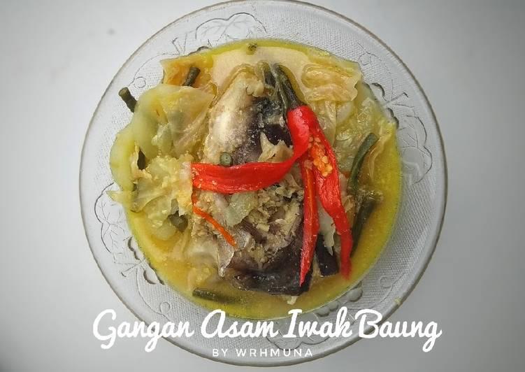 Gangan Asam Iwak Baung (Sayur Asem Ikan Baung)