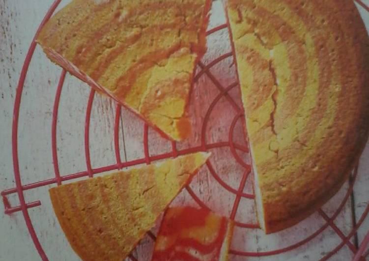 Gâteau zébré rose