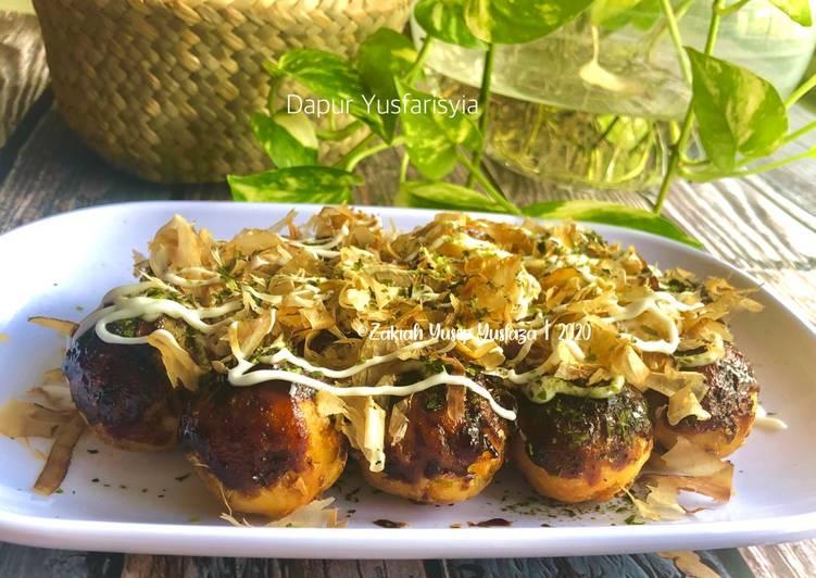 Takoyaki Mudah & Super Sedap (Versi doh dimasak)