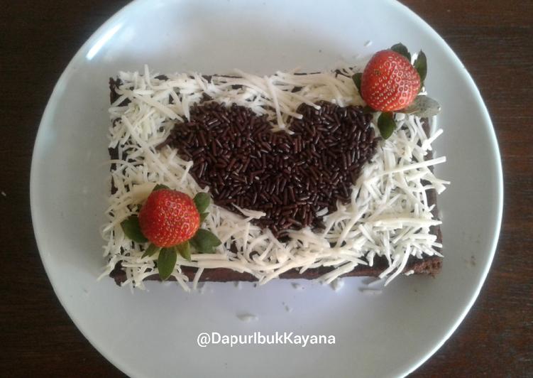 230. Brownies Kukus Cokelat Kopi Moist Tanpa Telur Tanpa Mixer