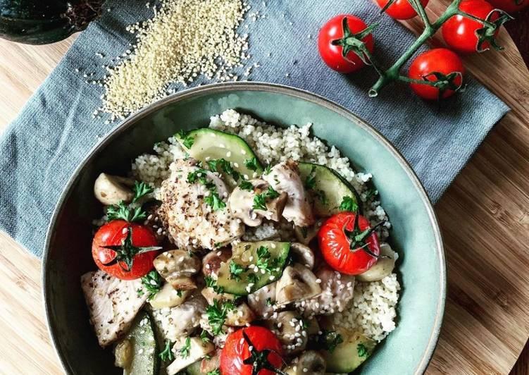 Taboulé au poulet et légumes