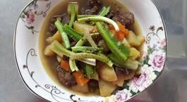 Hình ảnh món Thịt bò hầm khoai tây, cà rốt