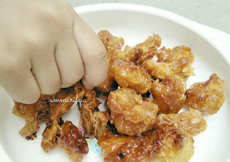 Honey glazed crispy chicken