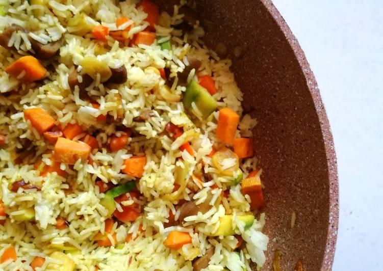 Arroz Basmati Con Verduras Salteadas Al Ras Al Hanout Receta