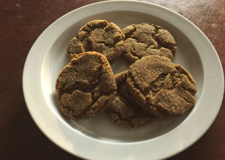 Steps to Prepare Speedy Molasses Spice Cookies FUSF