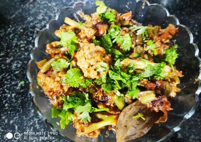 Spicy mix veg flavoured with coffee vinegar sauce