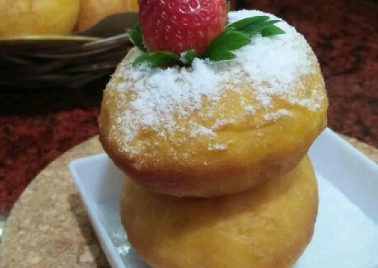 Eggless Pumpkin Donut (Donat labu tanpa telur)