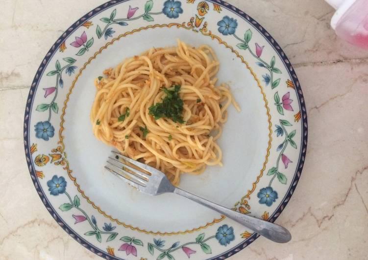 Spaghetti buat si balita