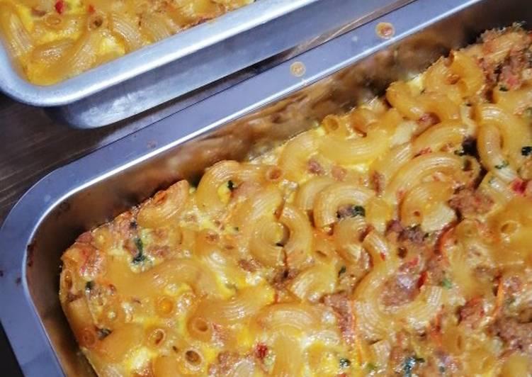 Resepi:  Macaroni bakar kelantan  Termudah