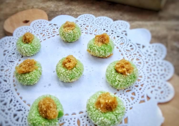 Klepon Thumbprint Cookies