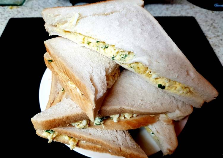My Cheese, Egg & Cress Sandwiches