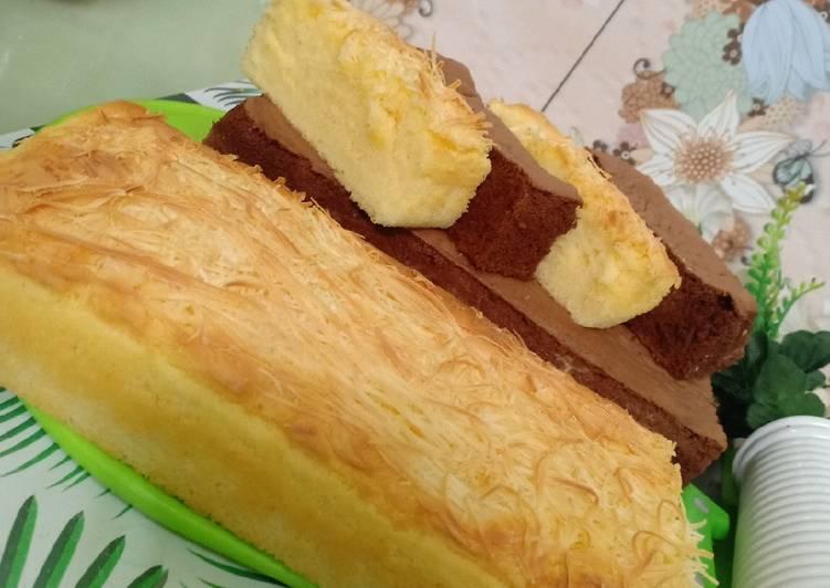 Bolu cream cheese coklat dan original - cookandrecipe.com