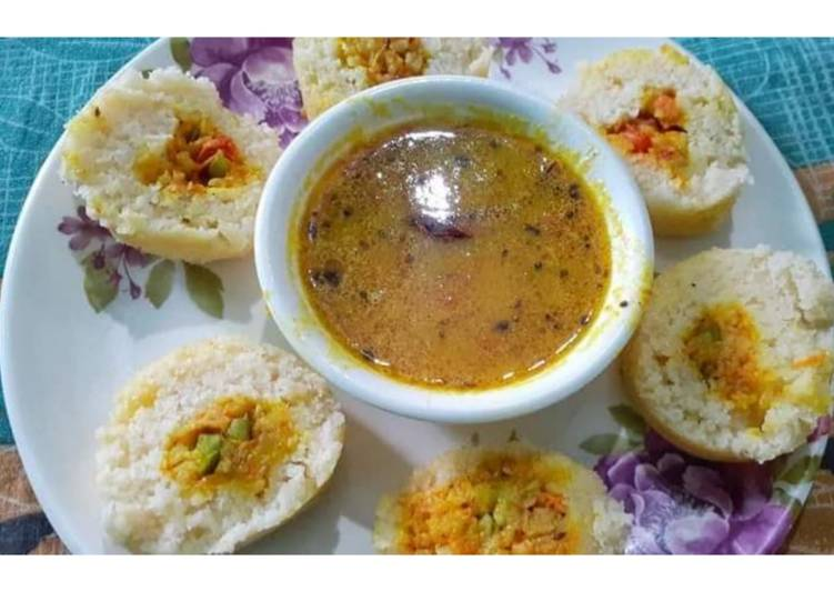 How to Prepare Delicious Vegatable stuffed idli