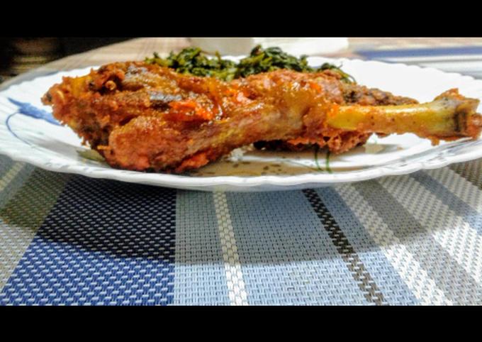 Deep fried crispy chicken with osuga(managu)#stayathomechallenge