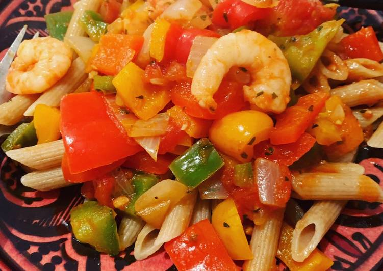 Easiest Way to Prepare Perfect Shrimp and bell peppers penne